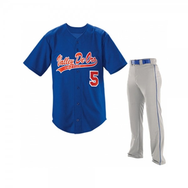 Baseball Uniform with V-Neck Shirt
