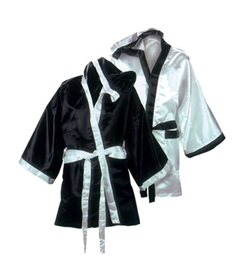 Black with White Boxing Robe