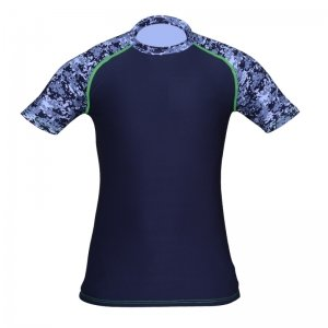 Camo Spandex Raglan Short Sleeve Shirt for Baseball