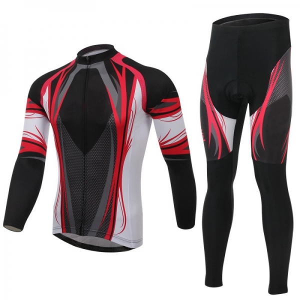 Cycling Kit with Compression Shirt and Pant