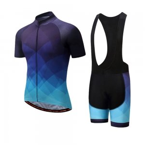 Cycling Kit with Bib Short and Half Sleeves Shirt
