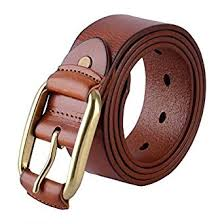 Leather Belt with Pin Buckle