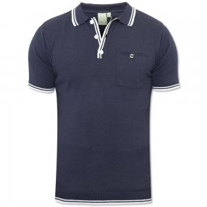 Polo Shirt with Rib on Cuff and Collar