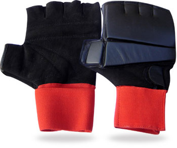 Half Finger Grappling Gloves in Cowhide Leather