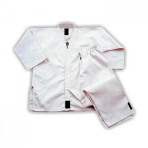 Taekwando Uniform in Cotton Drill White Bleached