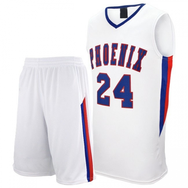 Uniform for Basketball with V-Neck Jersey