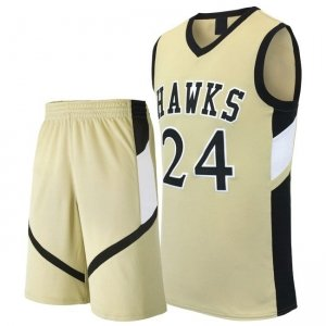 basketball Uniform with V Cut Short