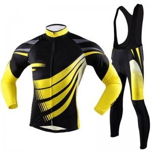 Cycling Kit with Bib Pant and Compression Shirt