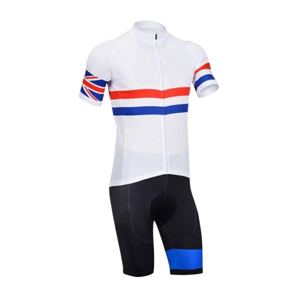 Cycling Kit with Compression Short and Full Zip Shirt